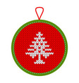 knitted christmas decoration trees vector image vector image