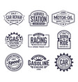 labels for gas stationcar repair serviceracing vector image vector image
