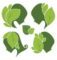 leaf and beauty vector image vector image