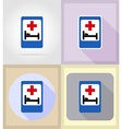 medical flat icons 16 vector image vector image