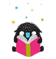 Monster Reading Book Cartoon for Kids vector image vector image
