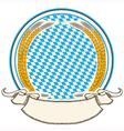 oktoberfest label Bavaria flag background with vector image vector image