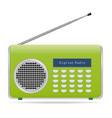 old retro radio waves tuner sign isolated on vector image vector image