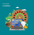 online casino flat style design vector image