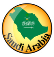 orange button with the image maps of Saudi Arabia vector image vector image