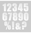 Paper Banner Design Mockup Number 123 vector image vector image