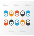 photo icons set collection of capture high vector image