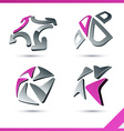 Pink company signs vector image vector image