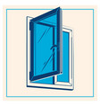 plastic window icon vector image