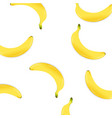 poster with banana vector image vector image