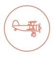 Propeller plane line icon vector image vector image