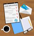 receiving bank loan concept top view vector image