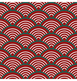 Red Green White Traditional Wave Japanese vector image