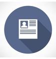 resume icon vector image