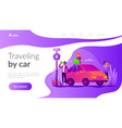 road trip landing page template vector image vector image