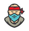 robber masked criminal cartoon vector image vector image