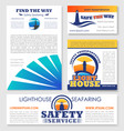 safety transportation marine company design vector image
