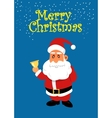 Santa Claus with golden bell Christmas vector image vector image
