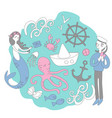 sea stories on different sides vector image