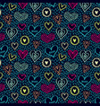 seamless hearts pattern-05 vector image