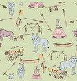 Seamless pattern with american indian elements