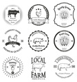 Set of agriculture label design elements vector image vector image