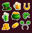 set of stickings for st patrick s day vector image vector image