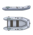 set rubber inflatable boat side and top view vector image