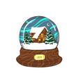 snow globe traditional christmas gift christmas vector image vector image