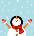Snowman Enjoying Snow vector image