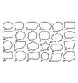 speech bubble geometric balloon banner line set vector image