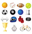 sport items icons vector image vector image