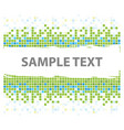 squares mosaic texture green tones vector image vector image