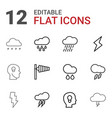 storm icons vector image vector image