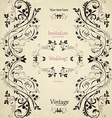 Vintage floral pattern for your design vector image