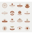 Vintage Restaurant Logos Design Templates Set vector image