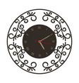 vintage wall clock vector image vector image