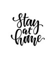 with hand lettering stay vector image