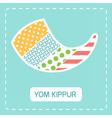 Yom kippur fabric shofar horn vector image