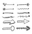 Doodle set of arrows vector image
