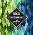 Seamless Geometric Pattern Time Wasted vector image