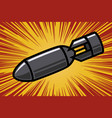 bomb in comic book style design element for vector image