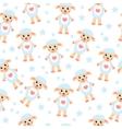 Cute cartoon sheep seamless texture Children s vector image
