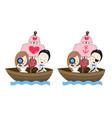 pirate wedding cartoon with sea theme vector image