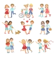 Young Love Teenager Couples vector image