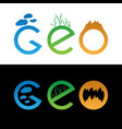 set of geo logo vector image
