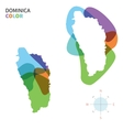 Abstract color map of Dominica vector image vector image