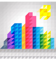 Abstract colorful building in triangles pattern vector image vector image