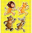 Animals running vector image vector image