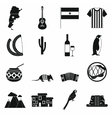 Argentina set icons vector image vector image